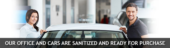 OUR OFFICE AND CARS ARE SANITIZED AND READY FOR PURCHASE